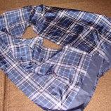 шарф мужской шелк клетка Италия оригинал 33Х150 идеал Louis Vuitton Burberry Gucci