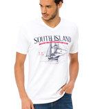 Мужская футболка белая LC Waikiki / Лс Вайкики с надписью на груди