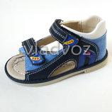 Детские босоножки сандалии для мальчика синие 20р. -25р. Clibee 2221