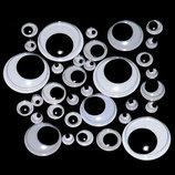 Подвижные пластиковые глазки для игрушек, диаметр 6-30мм
