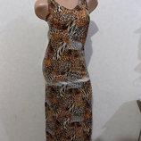 Сарафан платье длинное леопардовое Strada размер 44