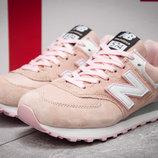 Кроссовки женские New Balance 574, розовые