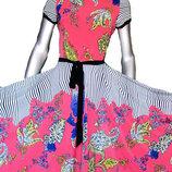 Летние трикотажные платьяс пышными юбками.