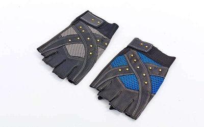 Перчатки спортивные многоцелевые с заклепками 4621 перчатки атлетические кожзам, размер L