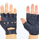 Перчатки спортивные многоцелевые перчатки атлетические 0004 кожа полиэстер, размер S-XXL