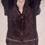 Шелковая блузка от Люкс бренда Marithé François Girbaud .Оригинал