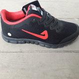 Подростковые кроссовки сетка копия Nike 3,0 черные 39 и 40р