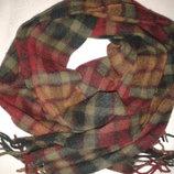 Шерстяной шарф в клетку Lyle&Scott, 100 % шерсть, 168 см х 25,5 см