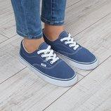 Кеды женские синие на платформе HKR Original на шнуровке