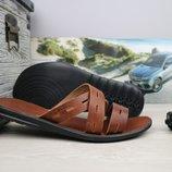 Шлепанцы мужские кожаные Bonis brown