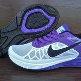 Женские кроссовки Nike LunarLaunch. Белые с фиолетовым. 35-40.