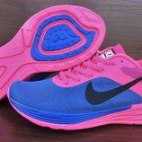 Женские кроссовки Nike Air LunarLaunch. Синие с розовым. 35-40. Вьетнам