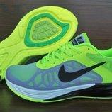 Женские кроссовки Nike Air LunarLaunch. Серые с салатовым. 35-40. Вьетнам