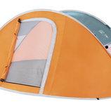Палатка Nucamp оранжевая 4-х местная с чехлом 3069-4