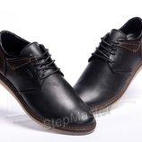 Мужские кожаные туфли Tommy Hilfiger Classic черные