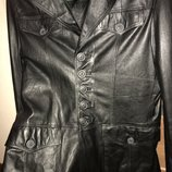 Мужской кожаный фрэнч пиджак