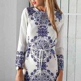 Женская пляжная туника- платье с цветочным принтом AL9179