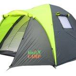 Палатка трехместная туристическая палатка Green Camp 1011