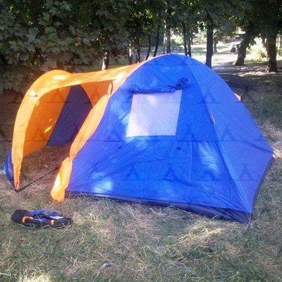 Палатка трехместная туристическая Coleman 1504