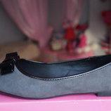 Туфли, новые для девочки серые, размер 36