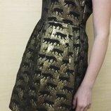 Стильное золотое платье на девочку YD на 12-13 лет