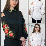 42-54 Женская рубашка вышиванка, открытые плечи. Женские вышиванки, Жіноча вишиванка.