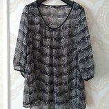 Размер 18 Новая нежная фирменная шифоновая блузка блуза