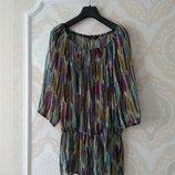 Размер 14 Новая яркая фирменная шифоновая блузка блуза туника