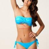 Роскошный купальник лазурного цвета код DM060 голубой