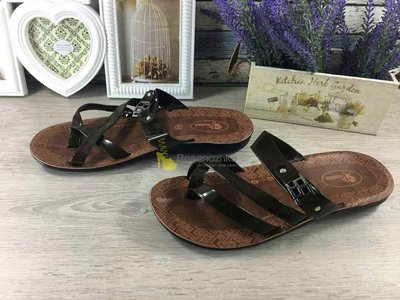Шлепанцы купить Finelex иск. лак шлепки мужские сандалии вьетнамки тапки