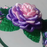 Ободок,обруч с цветами на выпускной