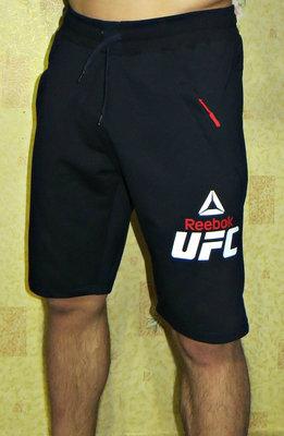 Шорты трикотажные Reebok UFC темно-синие.