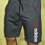 Шорты трикотажные Adidas черный меланж.