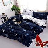 Полуторное постельное белье космос, планеты, кометы