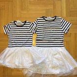 Трикотажное платья для девочек 4-12