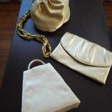 Театральные сумочки золото