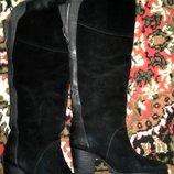 Натуральные зимние сапоги Respect на перетяжку каблука и ремонт молнии