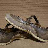 Винтажные комбинированные фирменные туфли Ecco Дания 38 и 39 рр.