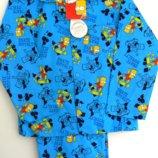 Фланелевые пижамки мальчикам 7-8 лет из Англии