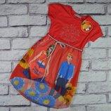 Летнее легкое платье, Турция, низ шифон,от 3-х до 7-ми лет