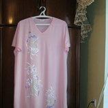 Ночная сорочка Shapely Figures, 100% хлопок, размер 20-22