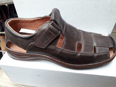 Мужские кожаные сандали, р.39-46 двух цветов
