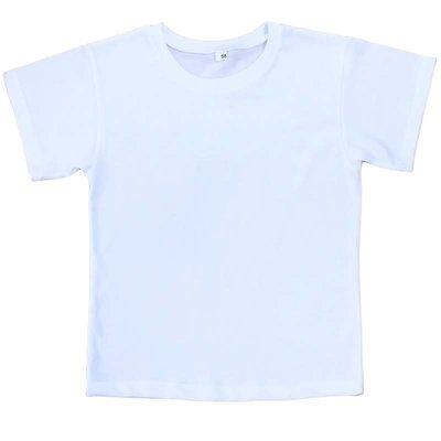 футболка детская белая рост 86-128