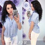 рубашка материал коттон цвета голубой в полоску, белый, розовый, цветы в полоску