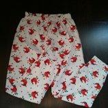 Размер S Красивые фирменные флисовые пижамные домашние штаны