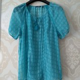 Размер 12,12-14 Новая нежная и красивая фирменная шифоновая блузка блуза