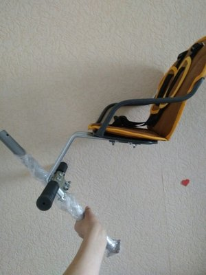 Велокресло на быстросъёмном креплении, детское вело сидение