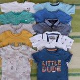 Фирменные футболки малышу на 3-7 мес.