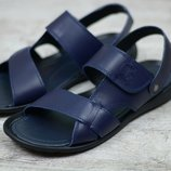 Мужские кожаные сандалии 305 син