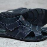Мужские кожаные сандалии G-2/1 син